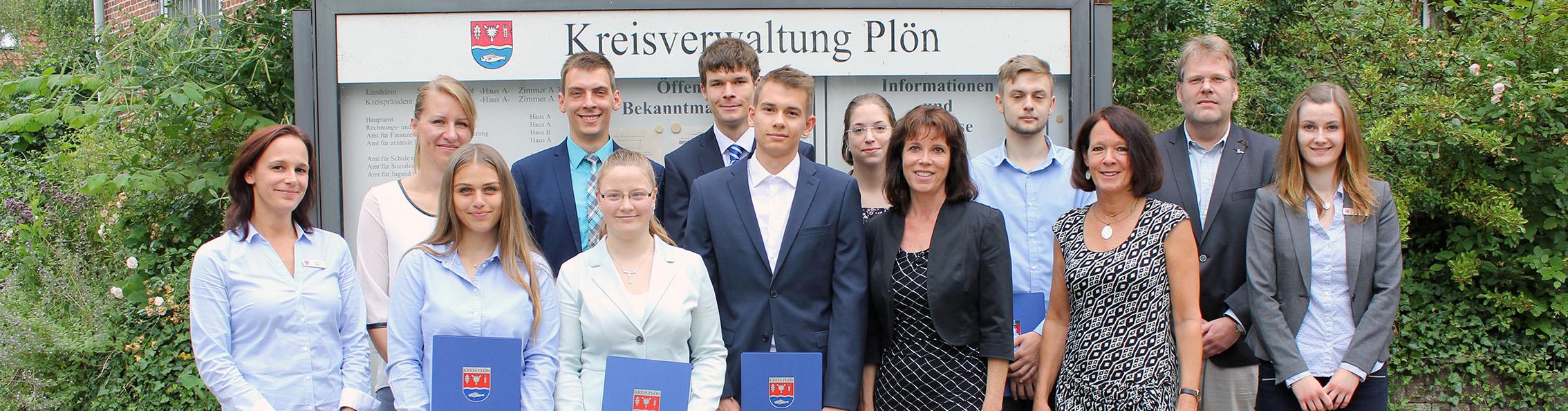 Nachwuchskräfte des Kreises Plön 2017