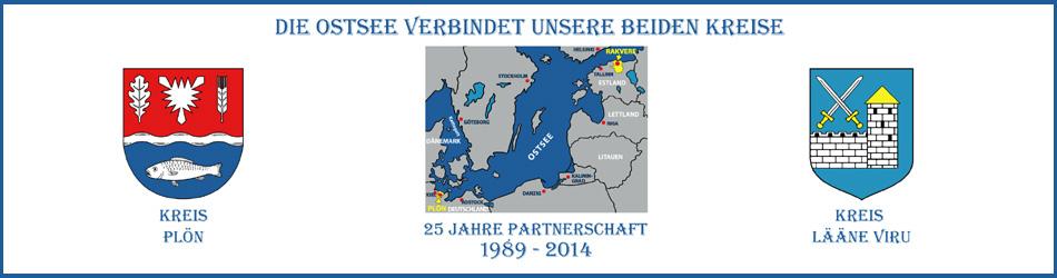 25 Jahre Partnerschaft Kreis Lääne-Viru in Estland und Plön